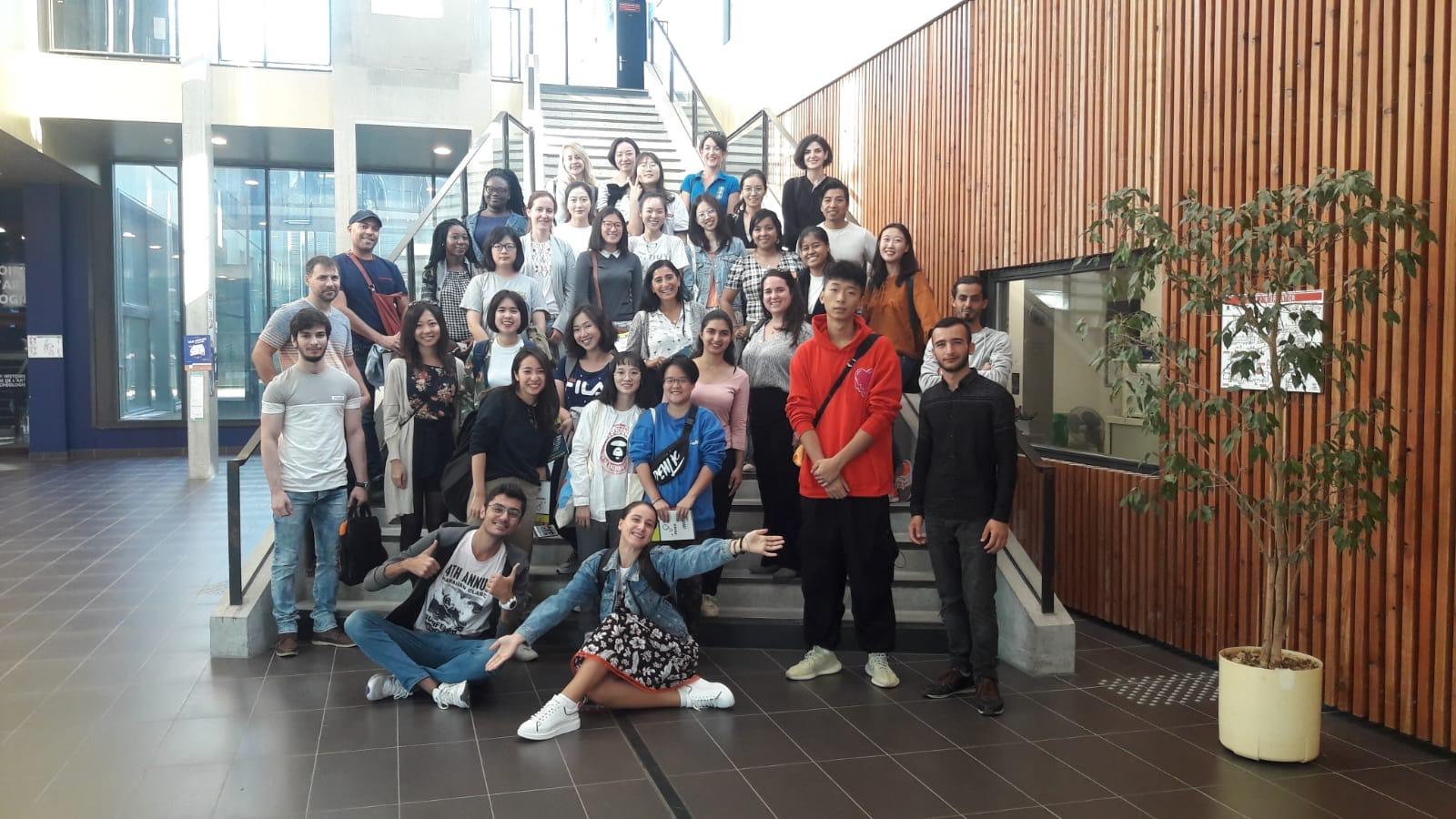 Les étudiants du SUL visitent le campus